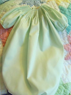 Ready To Smock Green Daygown Saque 3-6 Months