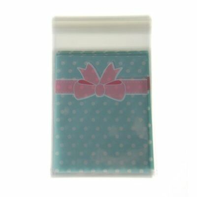 50 in 1 Pouch Point Blue Bowtie Bag for Candy Sweet Cookie F6P9