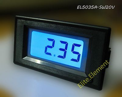 Digital Voltage Volt Panel Meter 3½ DC 20V Blue LCD Voltmeter Battery Monitor ZS