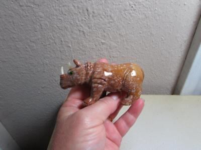 Rhino, Hand carved Stone from the Andes of Peru. Multi Colored Stone Rhinoceros