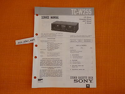 SERVICE MANUAL SONY TC W255 english Service Anleitung