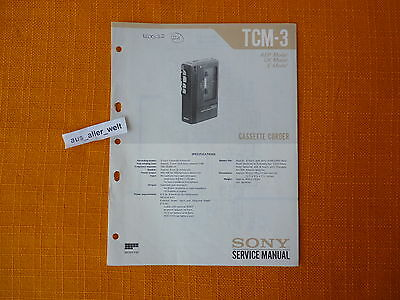 SERVICE MANUAL SONY TCM 3 english Service Anleitung