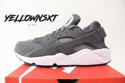 Nike Air Huarache Run Sz 9.5 Dark Grey White Black Running Shoes 318429 037 cb4ce5e65a35