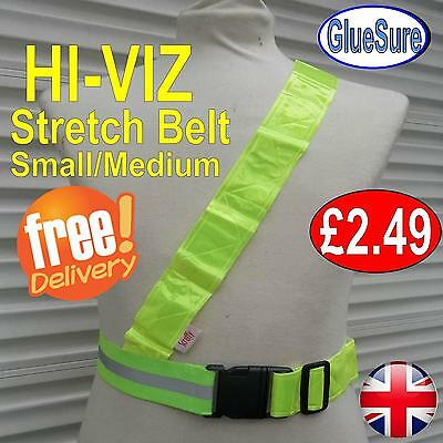 Hi Viz Reflective Bike Belt PVC Sash Bicycle Bike Visibility Safe Waterproof