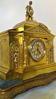 Large 19th Century French Ormolu Mantel Clock.