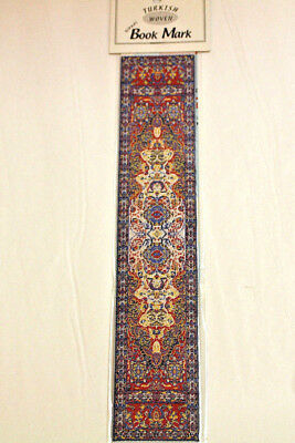 Beautiful Traditional Authentic Turkish Woven Fabric Rug Bookmark Bookmarker