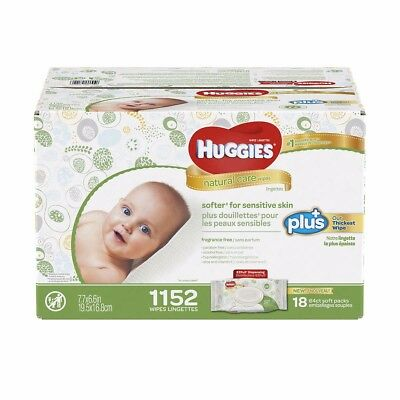 Huggies Natural Care Plus Baby Wipes 1,152-count- Free Shipping