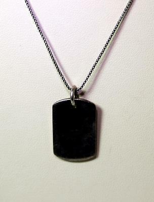"""Sterling Silver Tag Pendant Necklace to Engrave on 18"""" - 6648"""