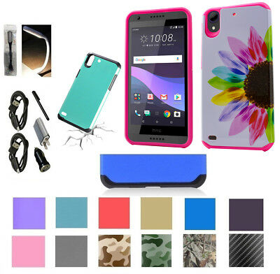 for HTC Desire 555 Desire 550 Shock Proof Edge Case Hybrid Layers Slim Cover +
