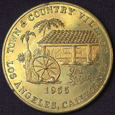 1955 Town & Country Village Los Angeles CA Lucky Token Good Luck Medallion