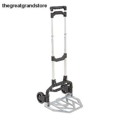 Folding Hand Truck Cart Dolly Trolley Push Luggage Portable Foldable Utility Lb