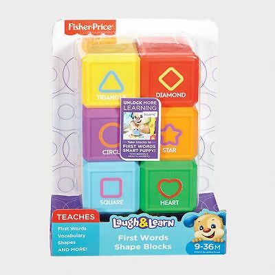 NEW Fisher-Price Laugh & Learn First Words Shape Blocks