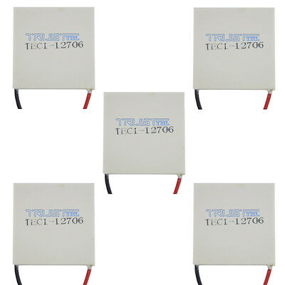 5PCS 12V 60W TEC1-12706 Heatsink Thermoelectric Cooler Peltier Cooling 12V60W.