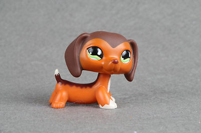 Littlest Pet Shop LPS222 Savannah Savvy Dachshund Dog Rare