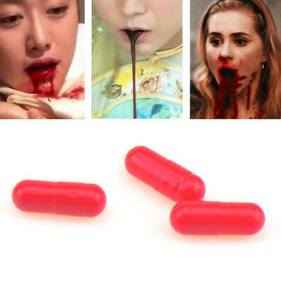 Halloween Fake Blood Plasma Prank Joke Cosplay Party Fake Blood Pill Capsules