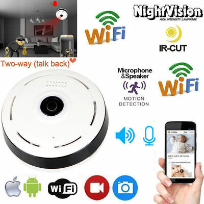 Hidden WIFI Camera 360 Degree Panoramic 1080P HD Light Bulb Mini Security Camera