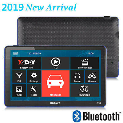 "XGODY Navigatore Satellitare Gps Auto Car 7"" Bluetooth HD Sat Navi Mappe IT 8GB"