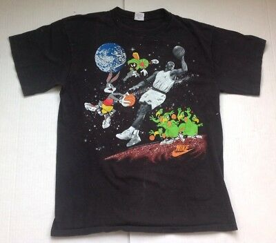 db1bee05 Vintage Nike SPACE JAM Michael Jordan T-Shirt Size XL 90's Grey Tag Looney  Tunes