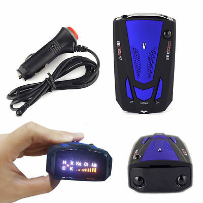 HOT Car 360 Degree 16 Band V7 GPS Speed Police Radar Detector Voice Alert Laser