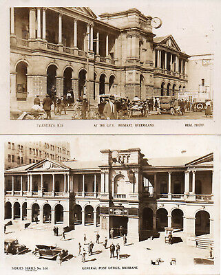 Australia Vintage Queensland Brisbane General Post Office X 2
