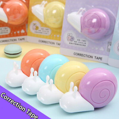 2 Pack cute animal snail correction tape stationery office school supplies
