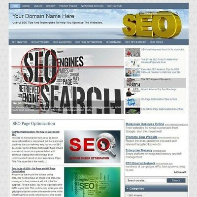 SEO Search Engine Optimization Blog Online Affiliate Business Website For Sale!