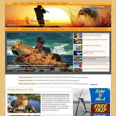 Top Fishing Online Store Business Website For Sale! Best Way Earn Money At Home!