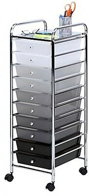 10-Drawer Shaded Storage Cart Paper Tools Accessories Scrap Booking Materials