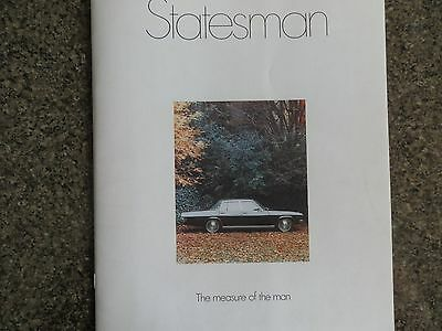 Holden 1971 Hq Statesman Brochure Incl Colour Chart 100% Guarantee.