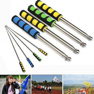 New Flag Pole Portable Telescopic Extend Handheld Pole Tool for Flags Windsocks