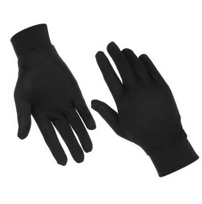 Black Thin Pure Silk Soft Liner Inner Sports Gloves Thermals Ski Bike Motorcycle