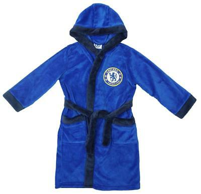 Boys Dressing Gown Chelsea Football Club CFC Hoody Fleece Kids 3 to 12 Years