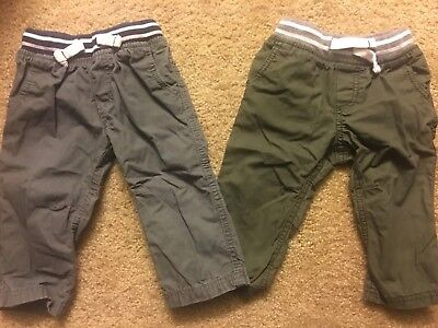 Carters Baby Boys Pants Size 9 Months- Lot Of 2