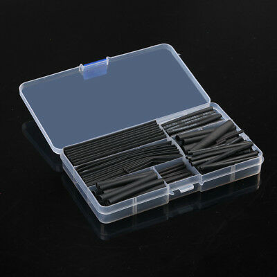 150PCS Heat Shrink Tube Sleeving Black Sizes & Length Car Wire Wrap Heatshrink A
