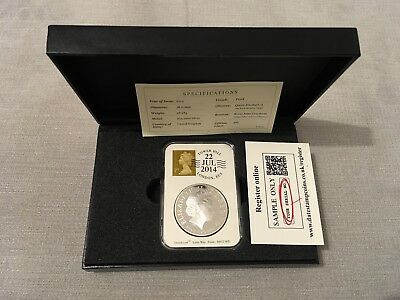 2014 Royal Mint UK Prince George £5 Silver Coin Very Rare With Coa.