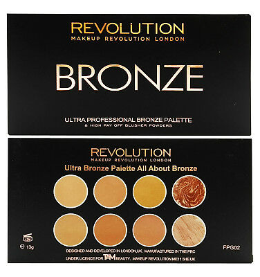 Makeup Revolution Contouring Highlighting Ultra Bronze Palette All about Bronze