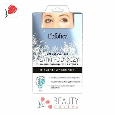 L'Biotica Diamond Cooling Collagen Gel Eye Patches 2pcs