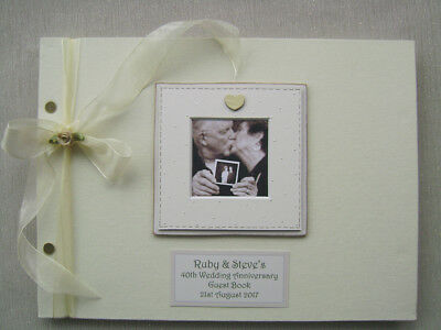 Personalised Anniversary 40Th Guest Book A4 Size With Box..photo Insert