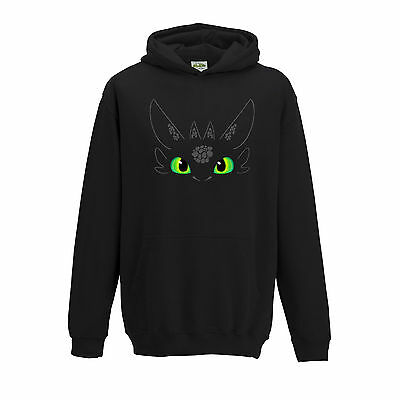 Children's  Toothless Face How To Train Your Dragon Inspired Hoodie