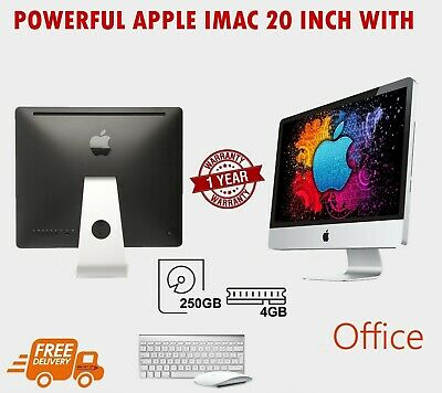 "Apple Imac Powerful 4.0Ghz 1Tb - 4Gb Core 2 Duo 20"" Mac Os X El Capitan Dvdrw"