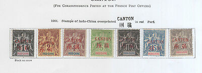 French Colonies, Canton On 3 Pages Mh