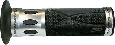 Pro Grip 728 Anodized Road/Scooter Grips Silver/Black 728SV