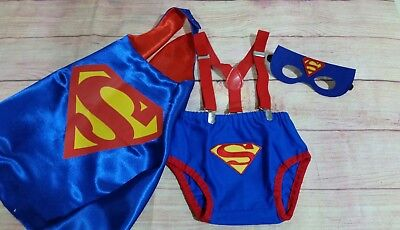 Superman Cake Smash Outfit