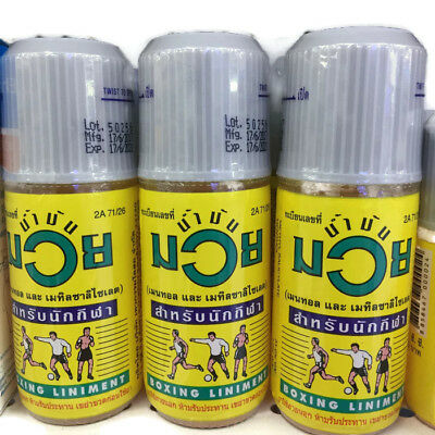 3x120CC Namman Muay Thai boxing liniment oil muscular pains (free shipping)