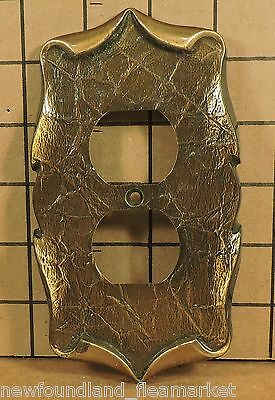 Vintage USED Ornate Metal Outlet Face Plate Cover HD#21
