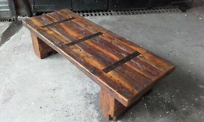 Coffee Table Rustic Re Claimed Timber.