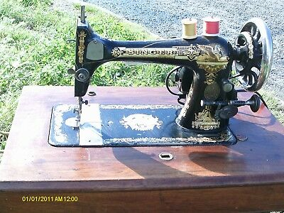 1896 antique Singer 27K sewing machine electric serviced #13508412 coffin lid