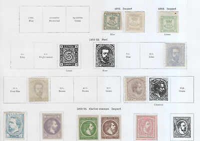 Spain From  1872 On  3 Pages Mh
