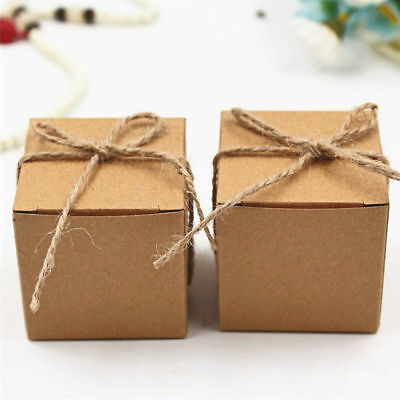 3/10/30/50x Kraft Paper Candy Wrapping Box Wedding Gift Favor Packaging Case