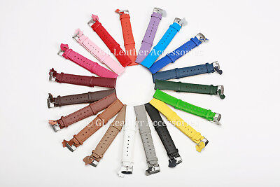 Ladies Mens High Quality Leather Thin Watch Strap 19 Colours 12mm - 24mm